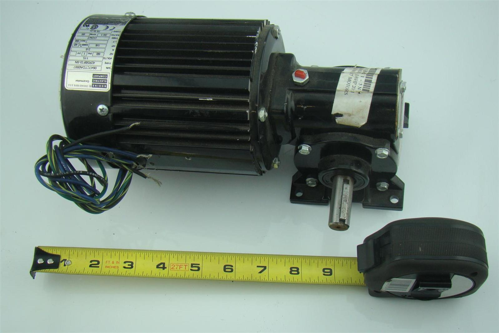 Bodine Electric Ac Gearmotor 1 6hp 20 1 Ratio 115volts 1