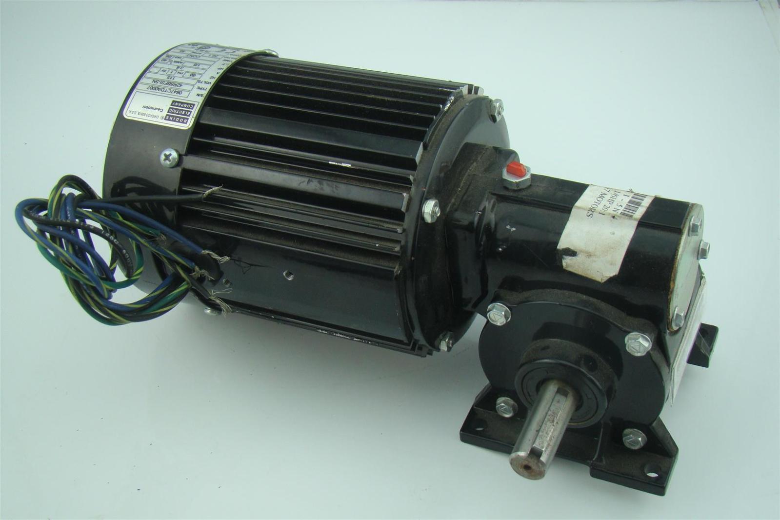 Bodine Electric Ac Gearmotor 1 6hp 20 1 Ratio 115volts 1