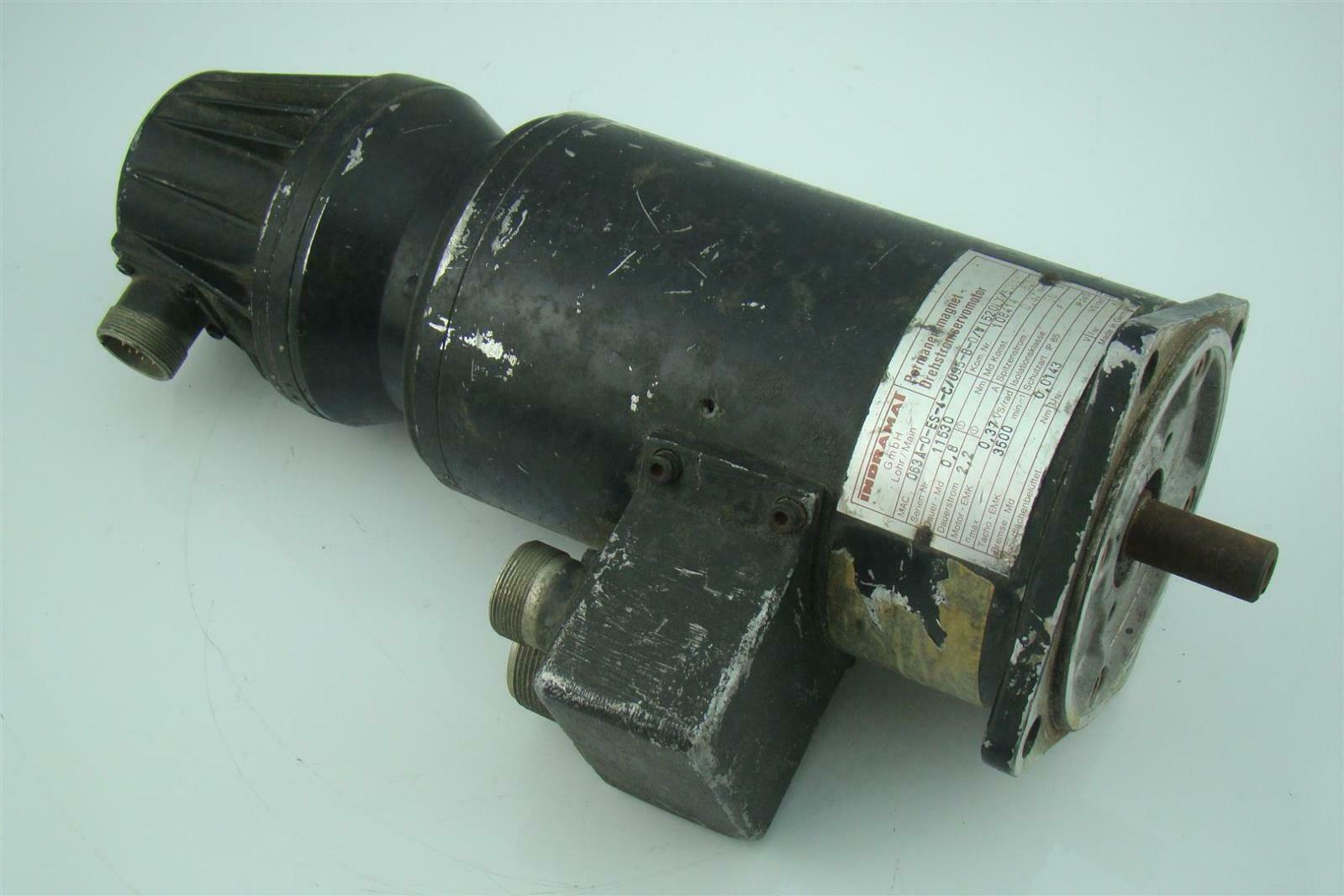 Rexroth Indramat Permanant Magnet Motor Mac063a 0 Es 4 C