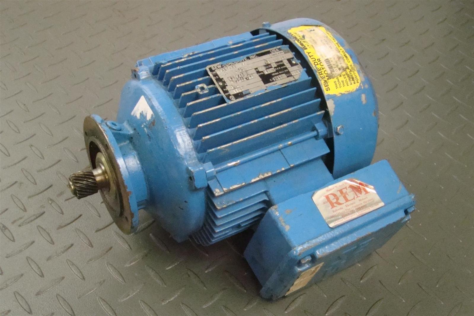 Sew Eurodrive Motor 1 5hp 230 460v 1700rpm 60hz 3ph Tefc