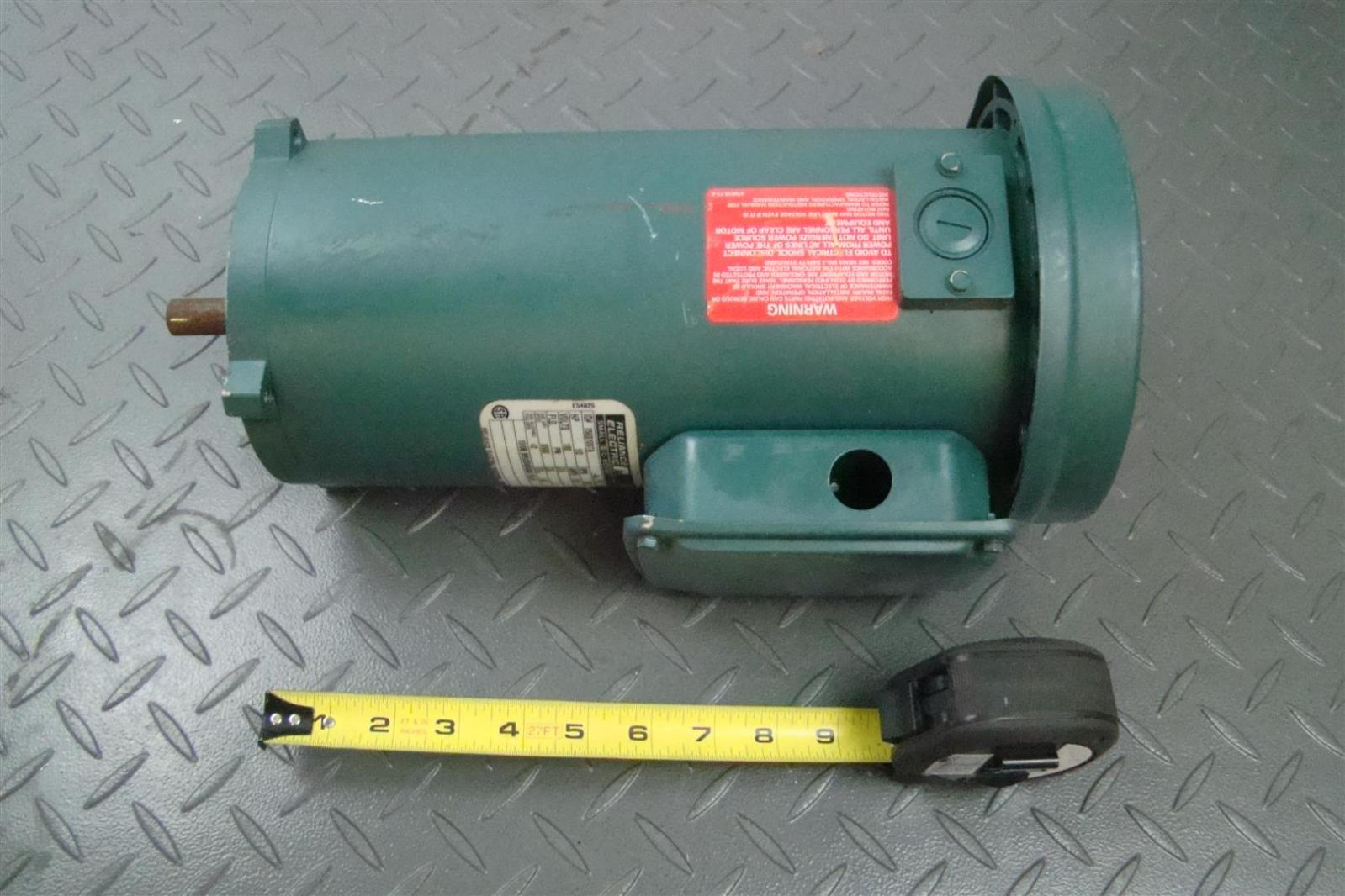 Reliance Electric Motor 1 2hp 180v 1750rpm 56c T56s1007a