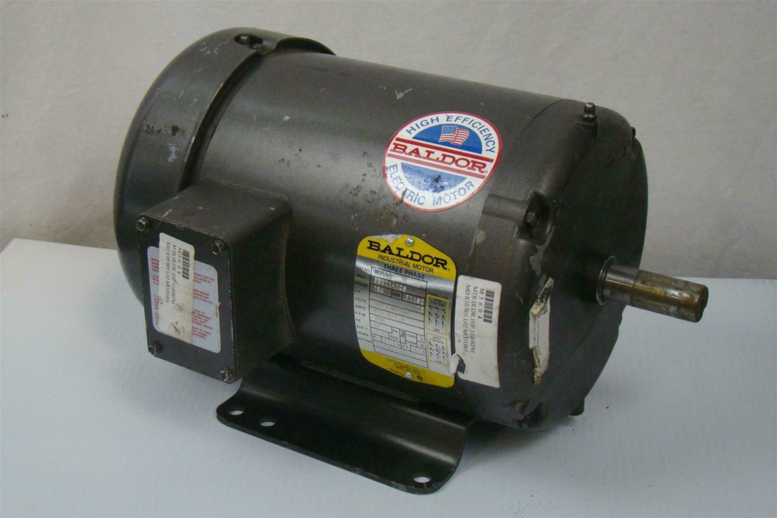 Baldor industrial motor 1 hp 208 460v 1140rpm m3604 Baldor industrial motor pump