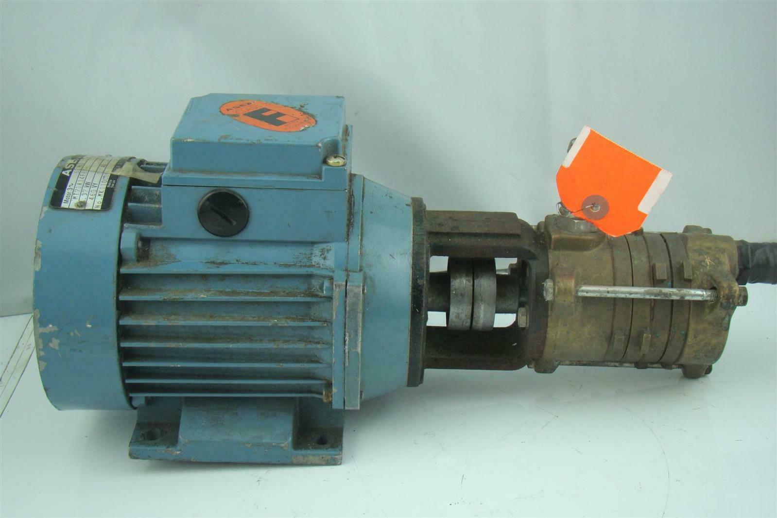 Asea hydraulic pump electric motor 3470rpm mt71a14f85 2 ebay for Hydraulic pump with motor