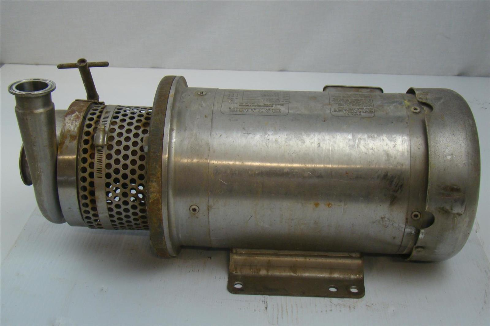 Baldor motor 5hp 208 230 460v 3450 rpm w centrifugal pump Baldor industrial motor pump