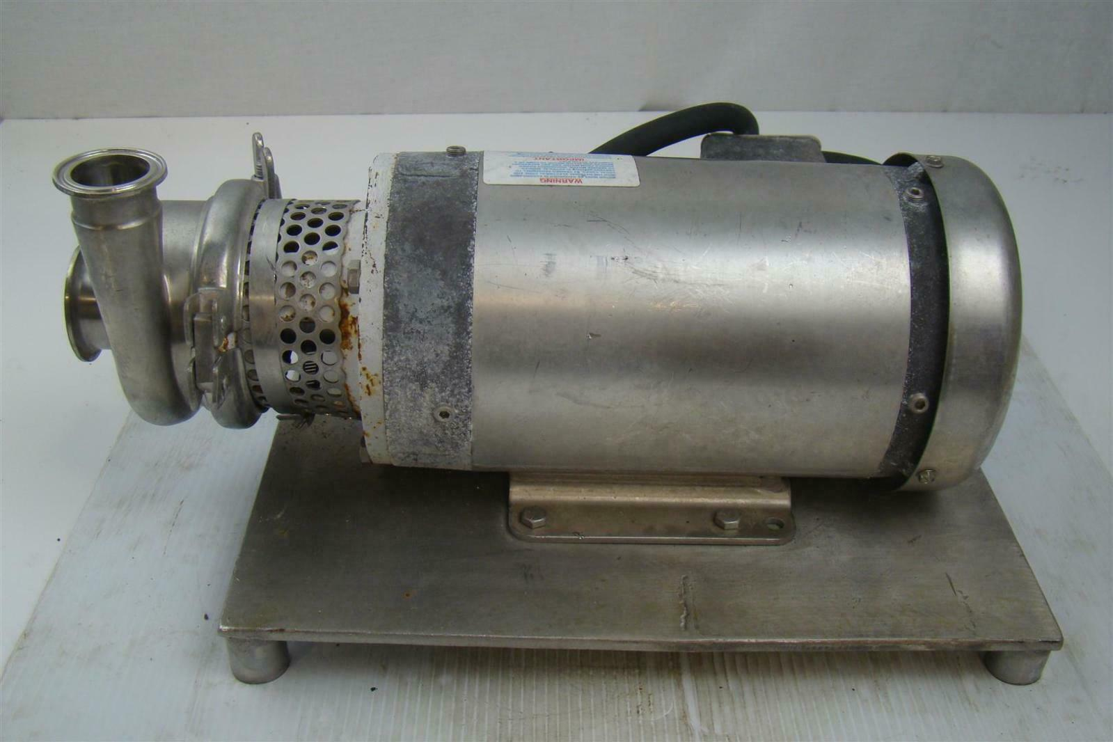 Stainless Centrifugal Pump Sanitary Tri Clamp Baldor 2hp