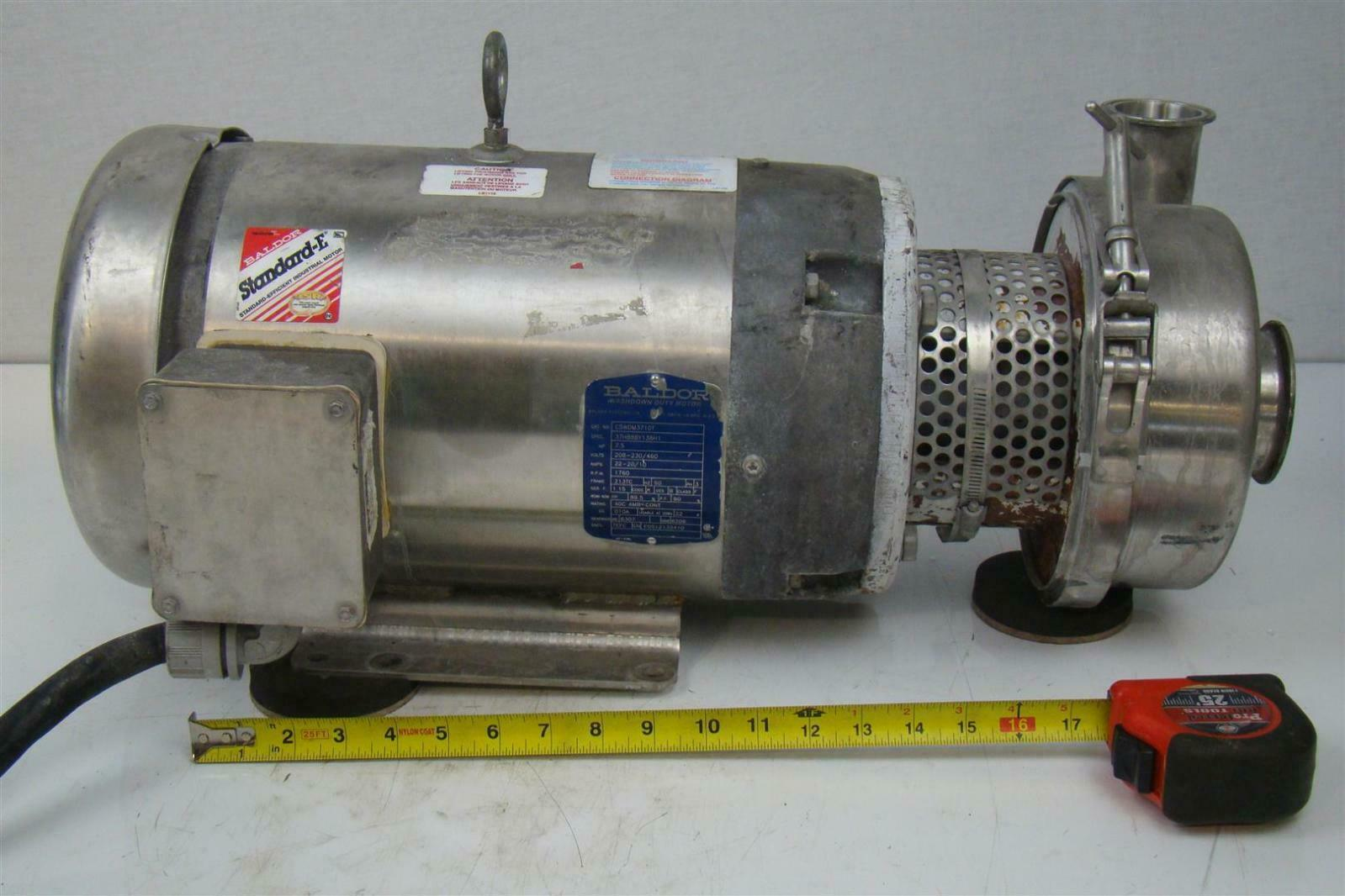 7 5hp Centrifugal Sanitary Tri Clamp Pump Baldor Washdown