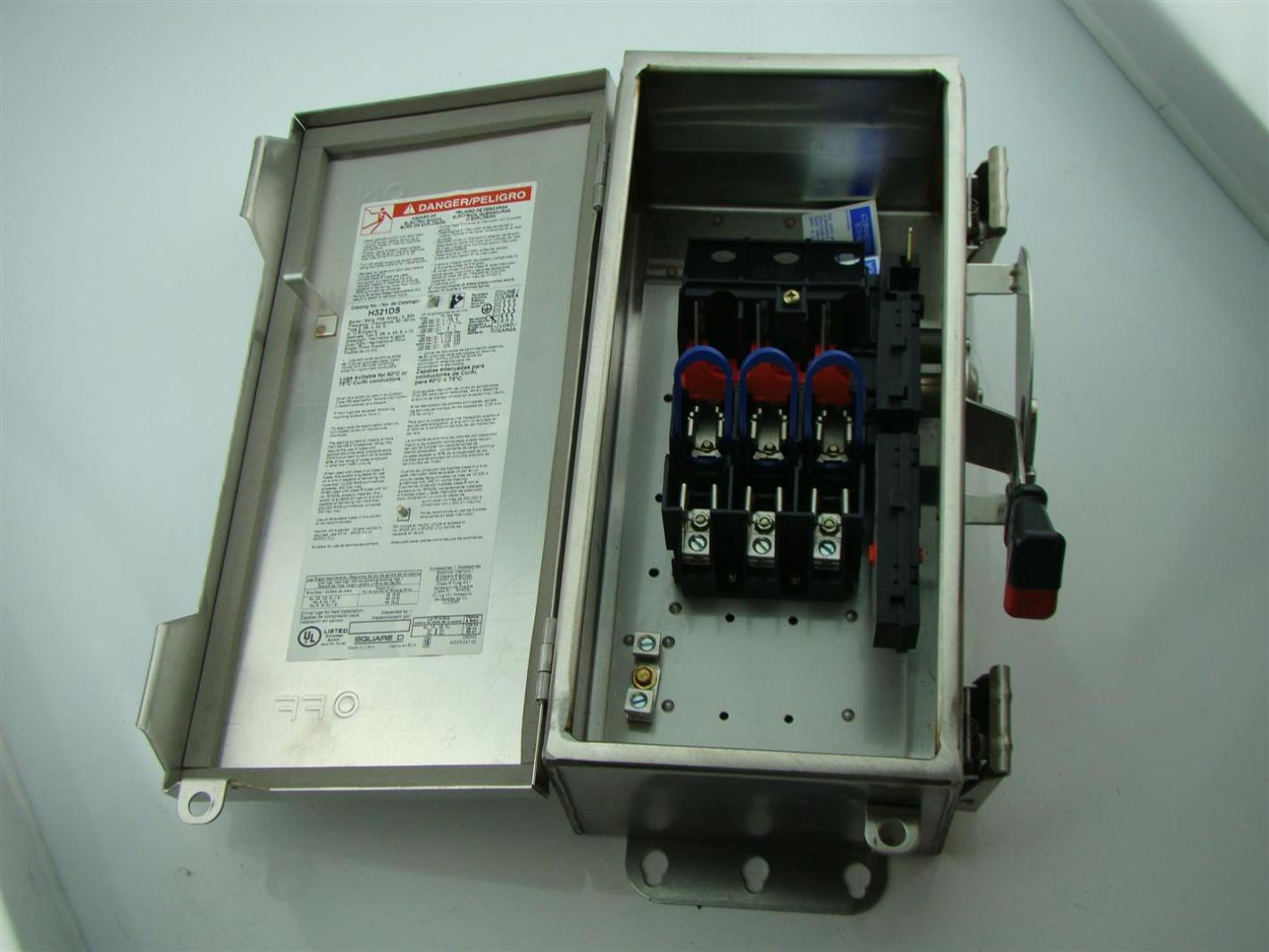 square d stainless safety switch h321ds 30 amp 240 v 3 fuse box joseph fazzio incorporated