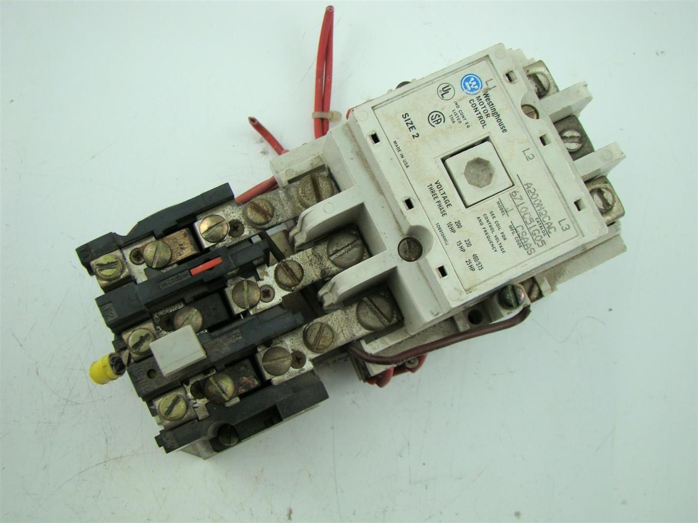 Westinghouse Motor Control Size 2 3phase Model J 10hp 25hp