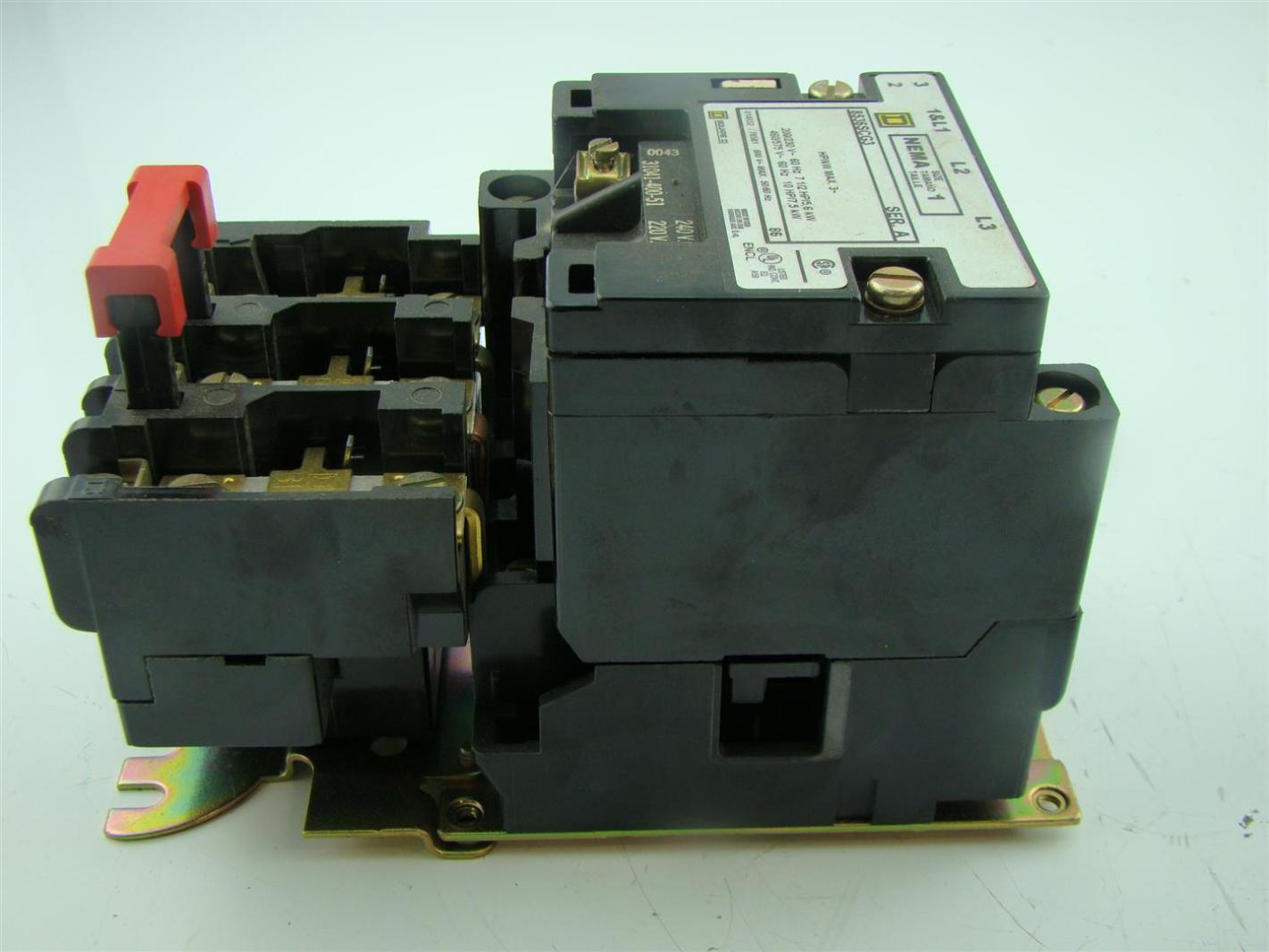 Square D Size 1 Motor Starter 3 Pole 200 239 V 60 Hz 8536scg3 Joseph Fazzio Incorporated