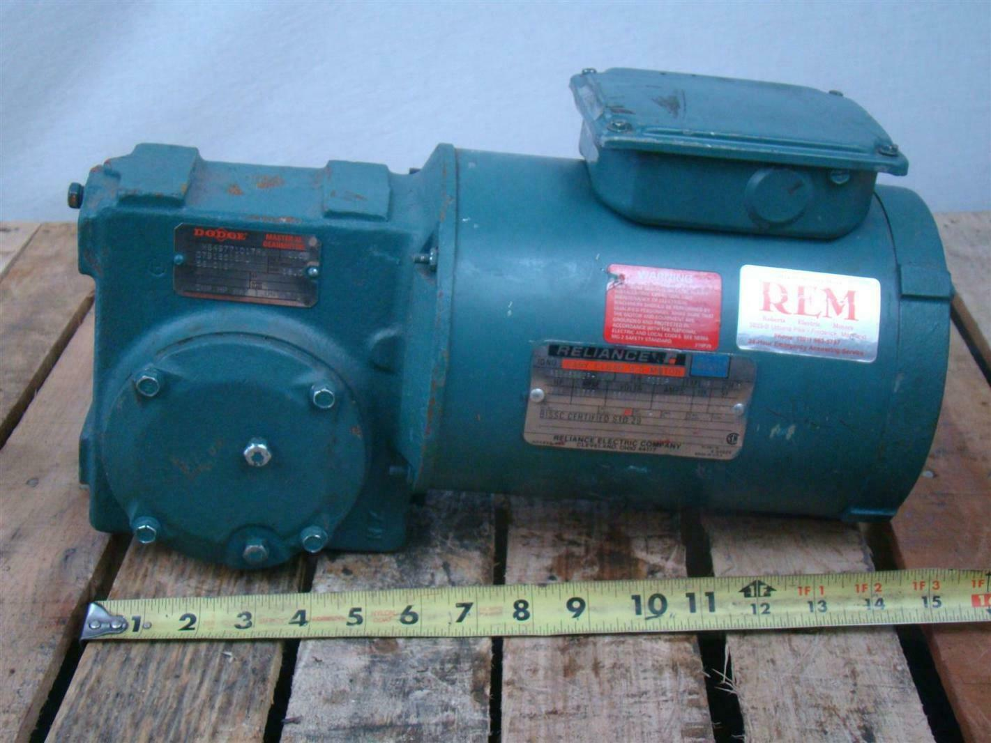 Reliance Ac Gear Motor 3ph 3 4hp 1725rpm 230 460v 2 5 1