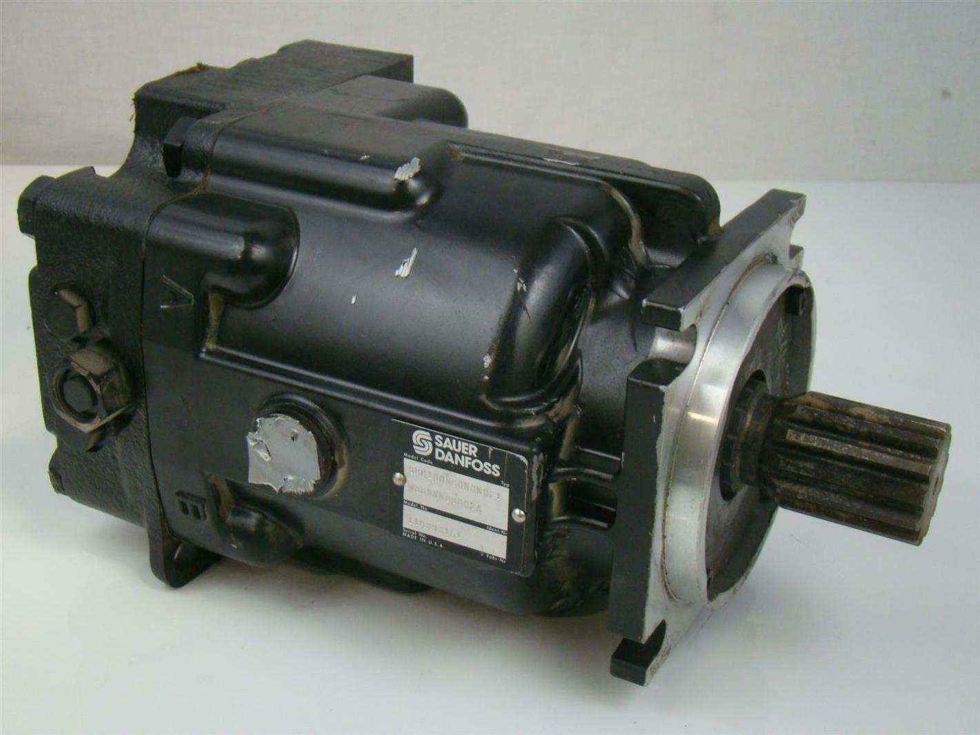 Sauer danfoss axial piston hydraulic motor shaft for Hydraulic pump with motor
