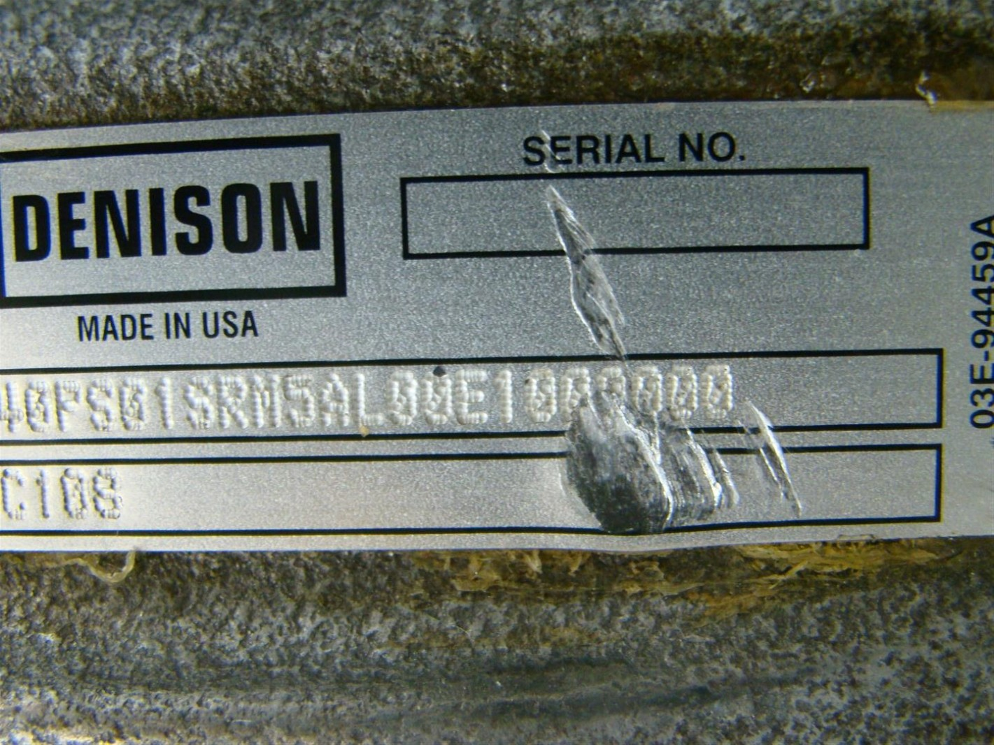 PARKER  DENISON  P1 AXIAL PISTON  PUMP 1.72 SHAFT    93E-93182 H18C108