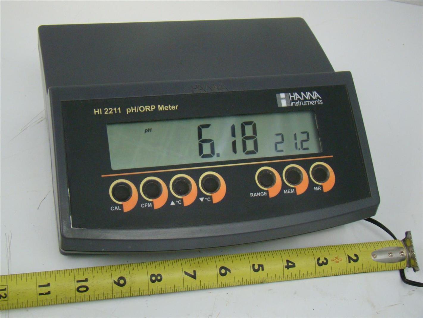Hanna Ph Meter : Hanna temperature ph orp benchtop meter hi