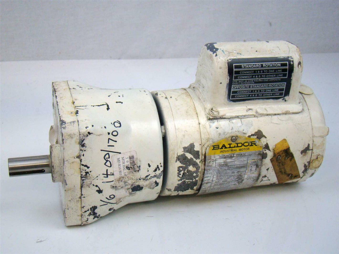 Baldor Gear Motor 1 6hp Single Phase 1400 1700rpm