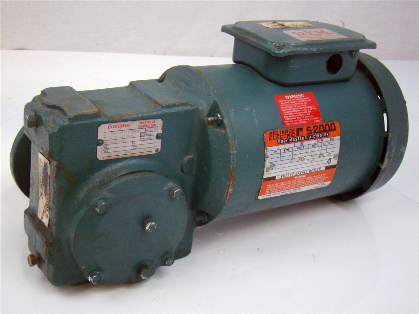 Reliance Electric Duty Master Ac Motor 1 2 Hp 1725rpm 230