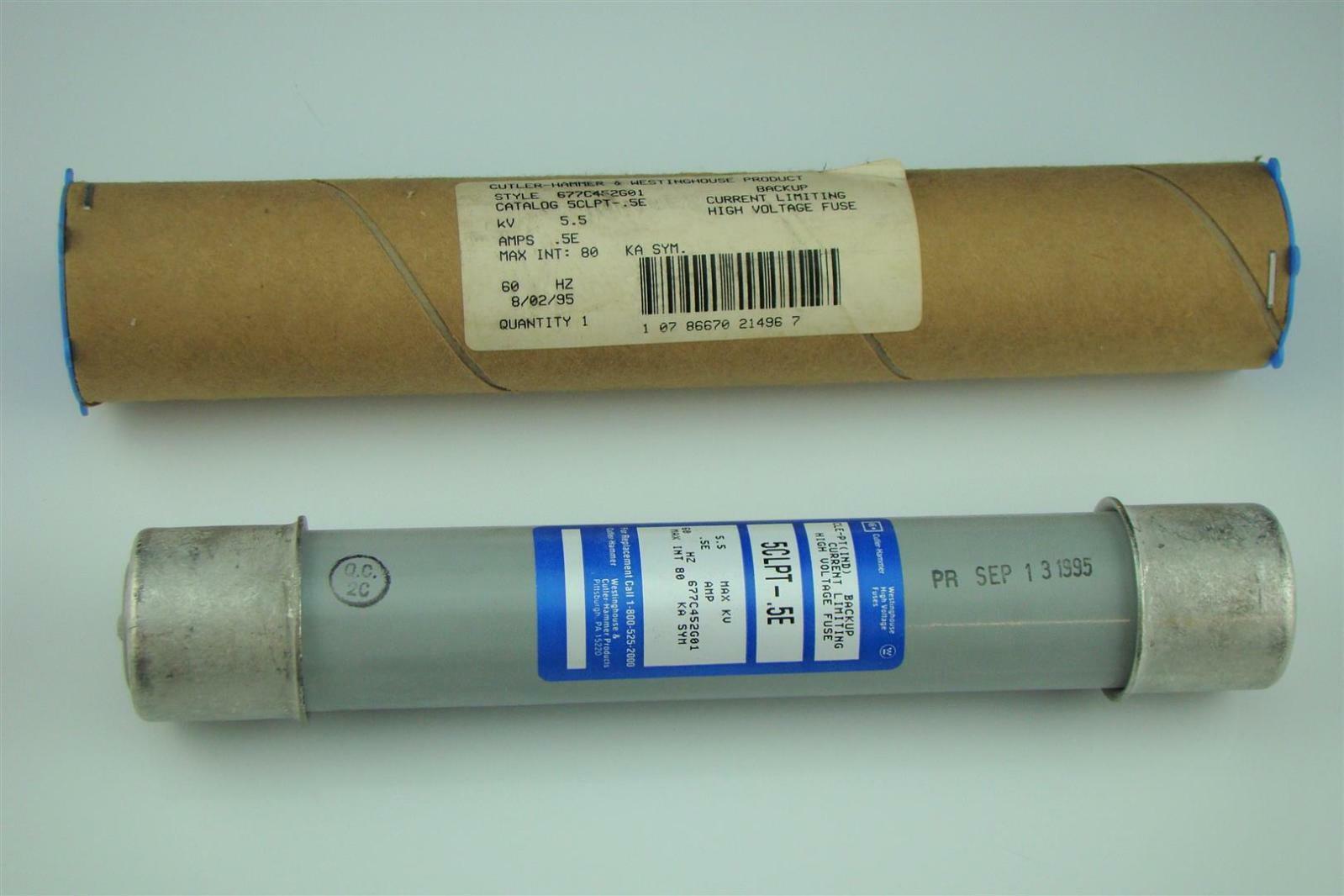 Westinghouse cutler hammer high voltage fuses kv clpt e