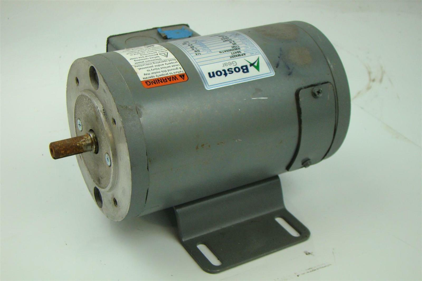 Boston Gear Dc Electricric Motor 90v 2 5a 1 4hp Shaft 1