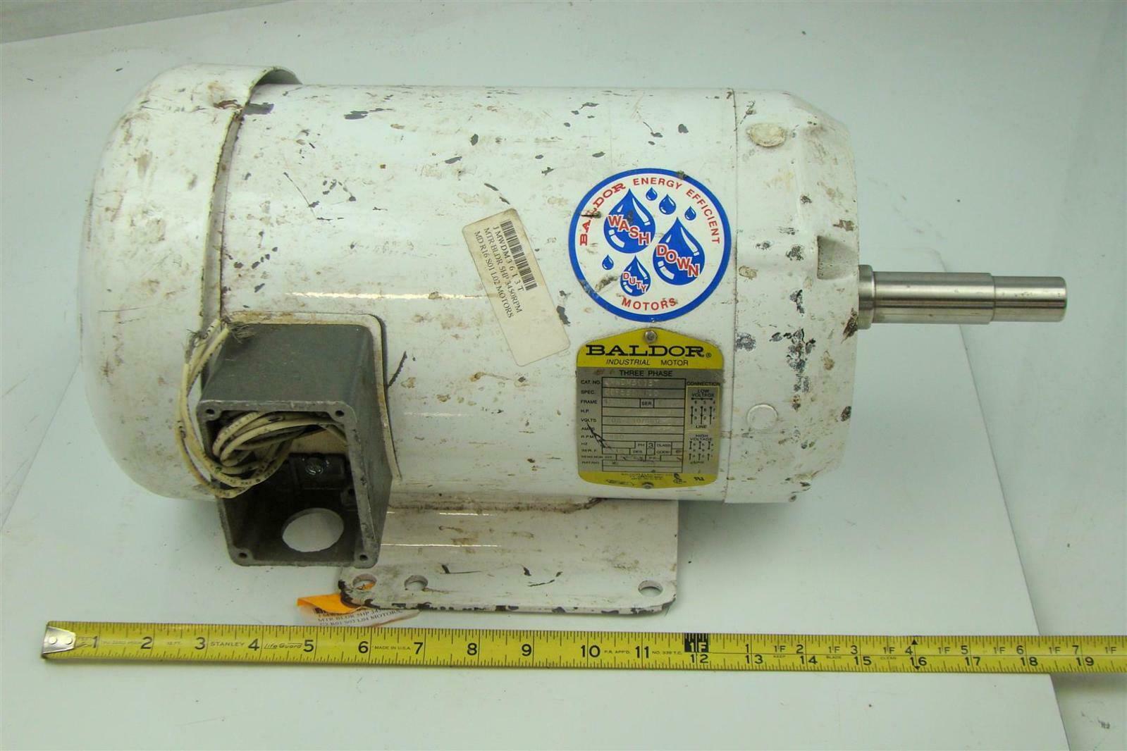 Baldor electricric motor 5hp 230 460v washdown duty for Baldor reliance motor parts