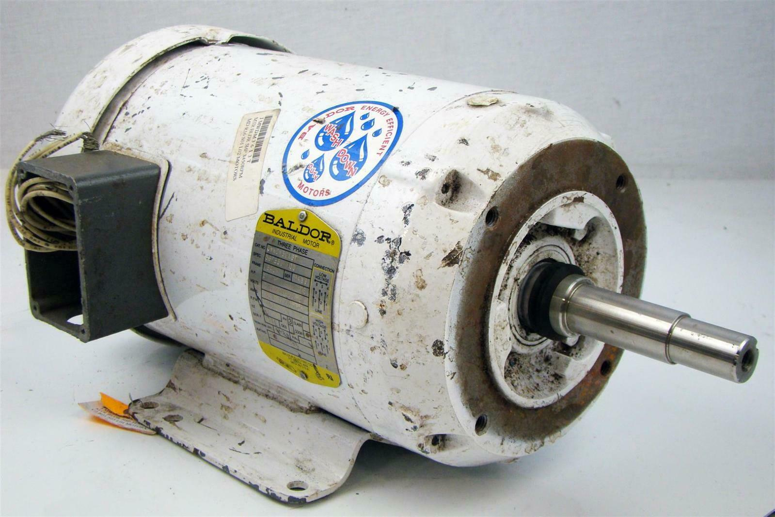 Baldor Electricric Motor 5hp 230 460v Washdown Duty