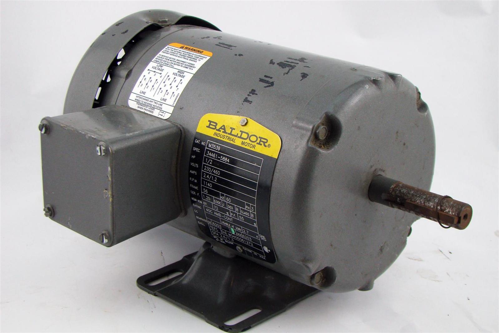Baldor Electricric Motor 5hp 230 460v 1 2a 2 5