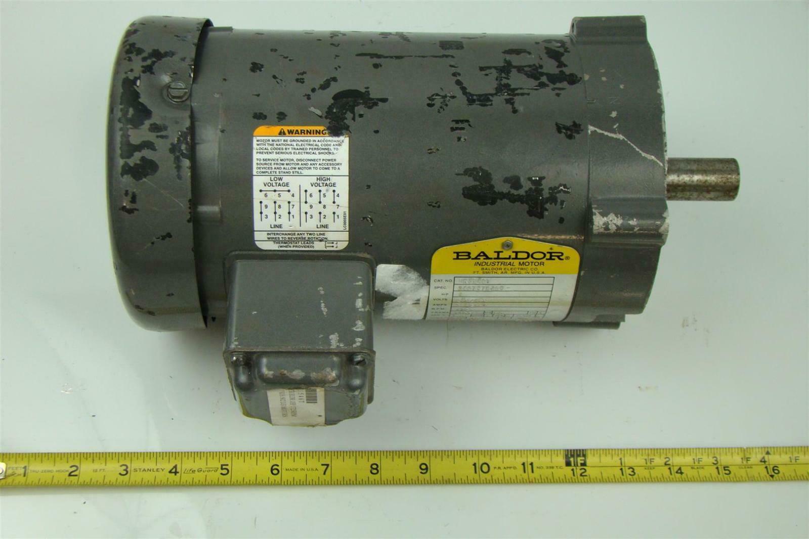 Baldor Electricric Motor 1 Hp 230 460v 1 7a
