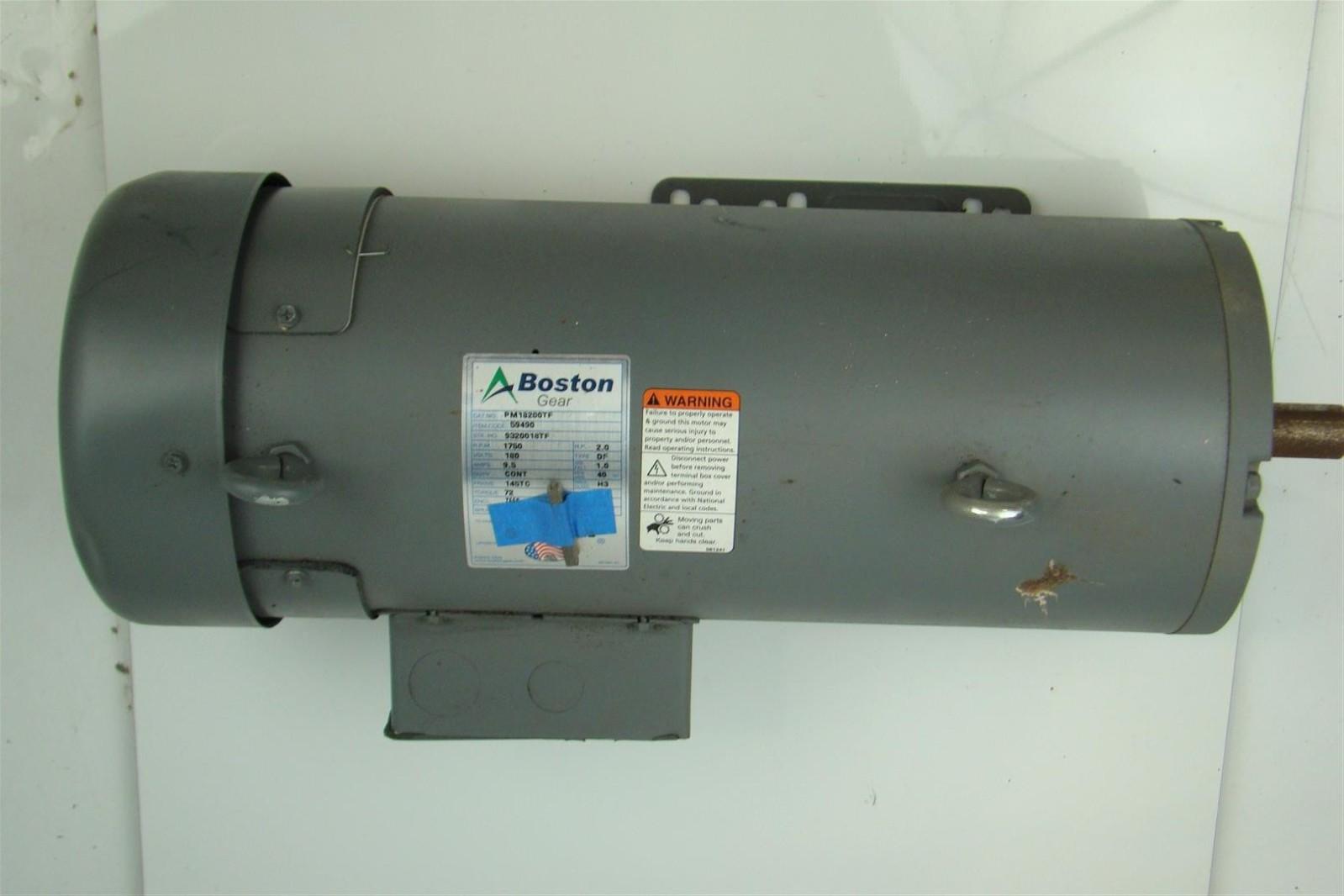 Boston gear dc brake motor 180v 2hp 9 5 amps shaft 2 for 2 hp motor current