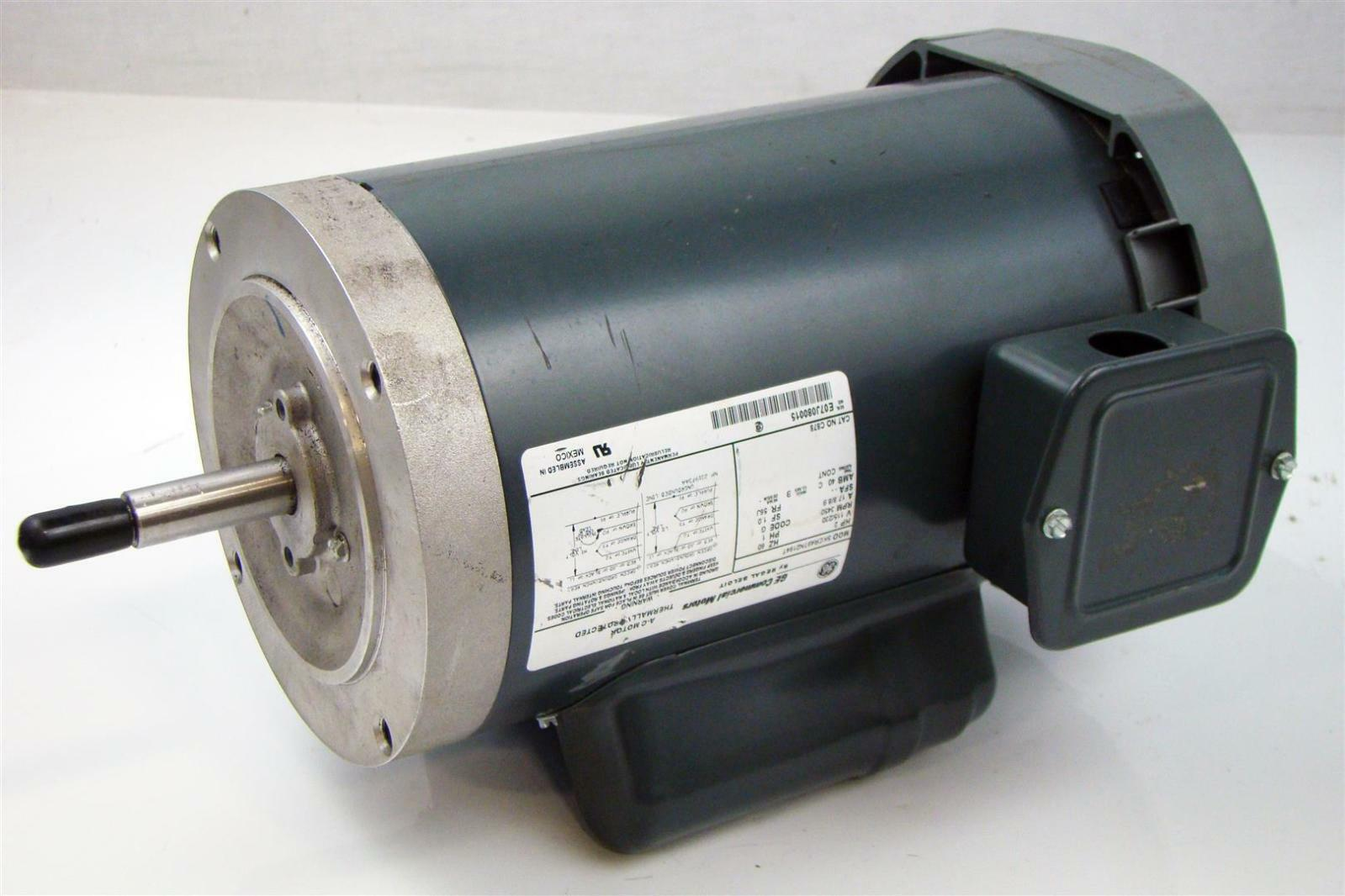 Ge single phase motor 2hp 115 230v rpm 3450 frame 56j for Ge commercial motors 5kcp39fg