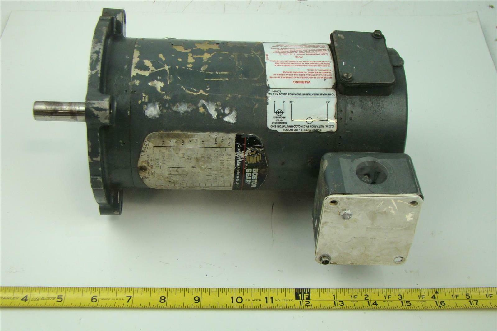 Boston gear dc electricric motor 90v 25 hp 2 5 amps for 25 hp dc electric motor