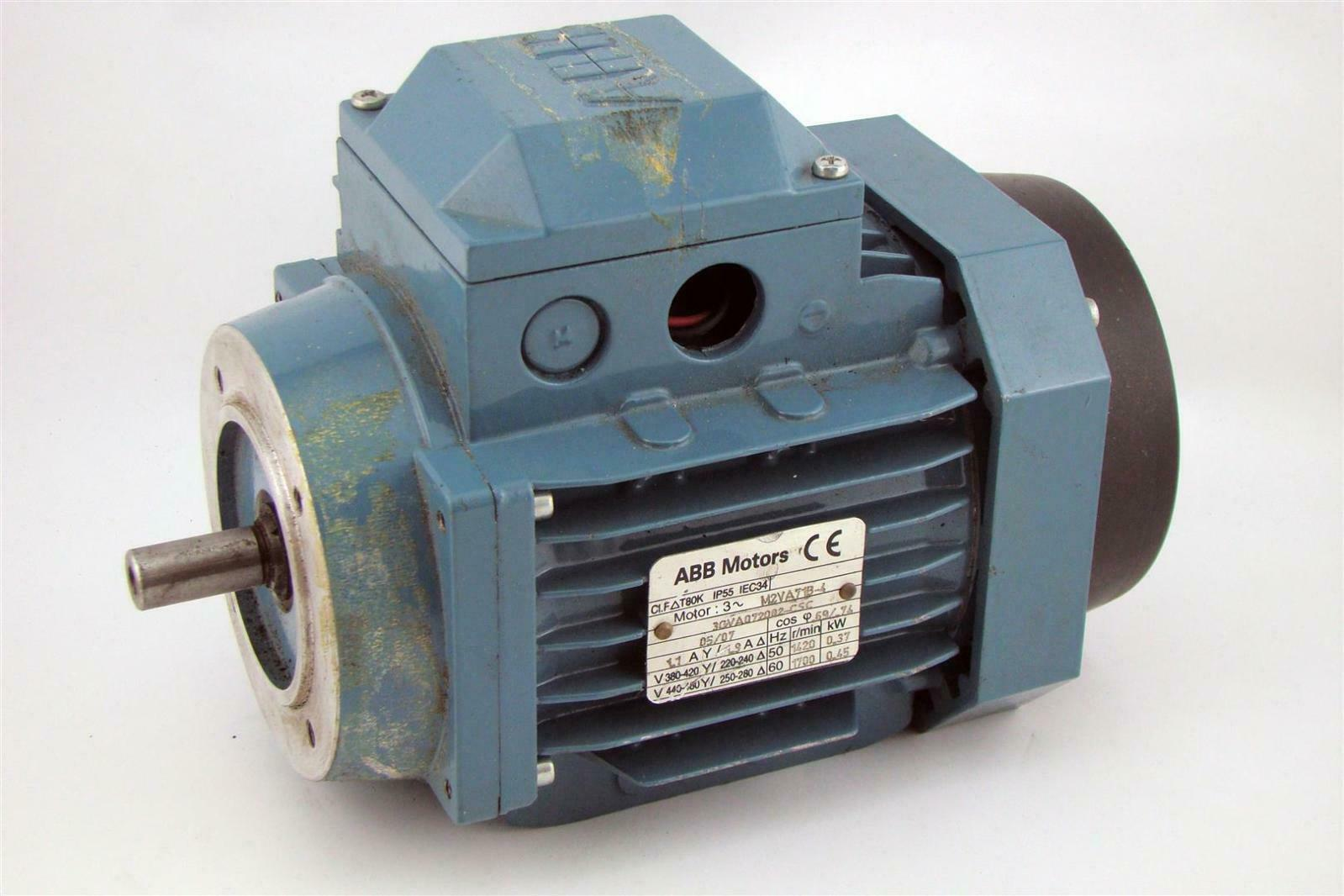 Abb Electric Motor 250 440v 60hz 1700 Rpm 45kw 60hp