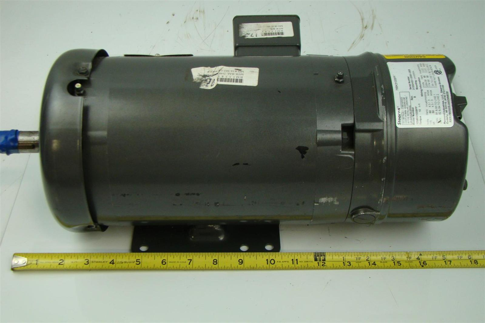 Baldor reliance brake motor 2hp 230 460v 1725rpm 60hz for Baldor reliance motor parts