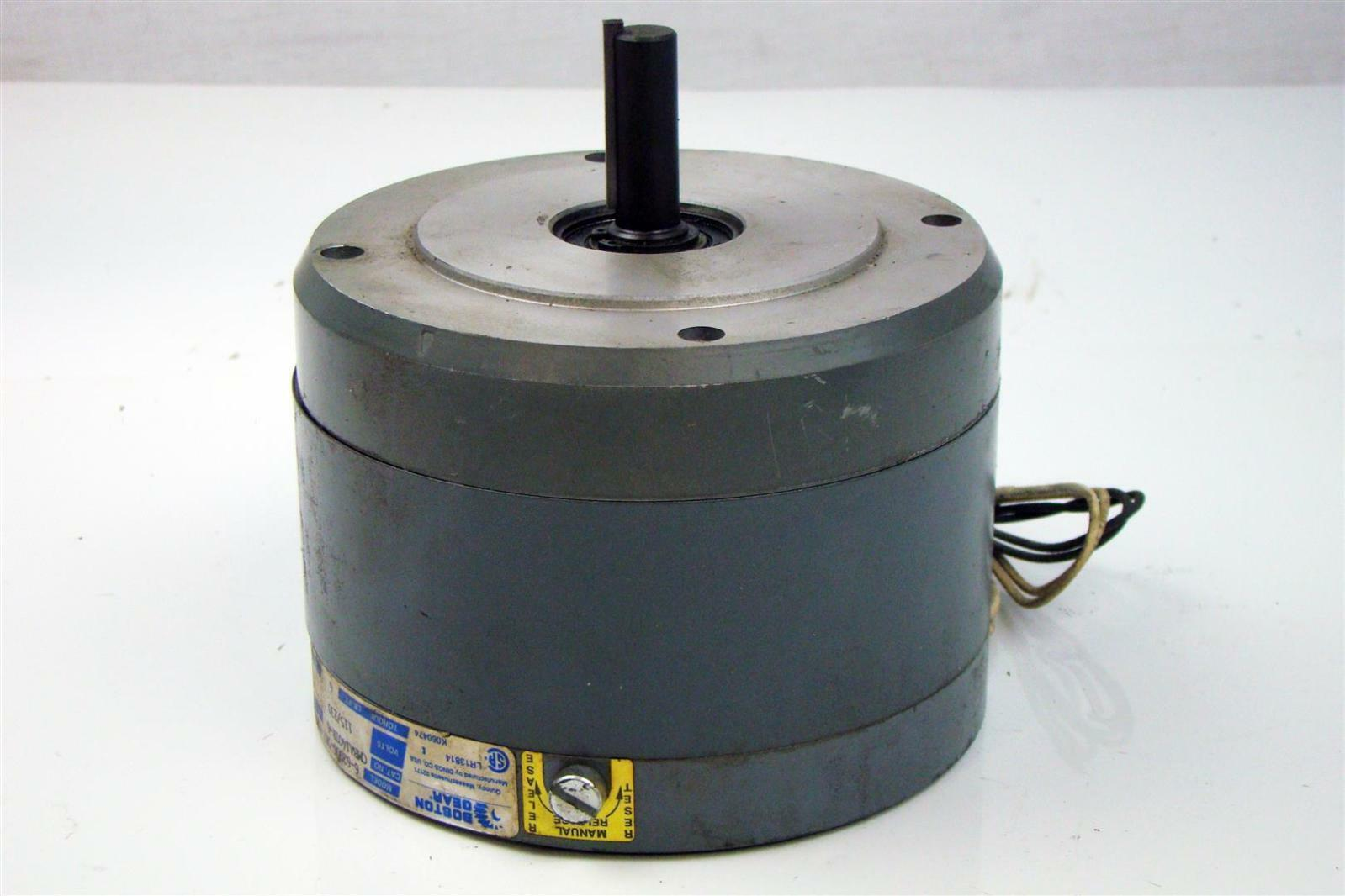 Boston Gear Electric Motor 230v 1p 2 6a 2 X 60 Shaft