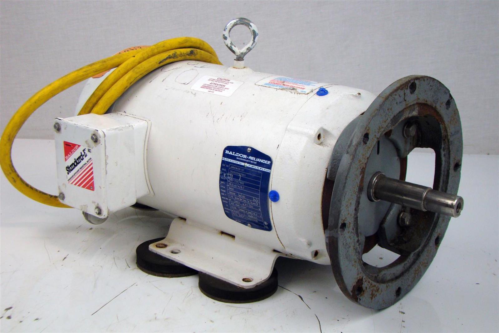 Baldor reliance 7 1 2hp motor 230 460v 3450rpm 3ph 17 4 8 for Baldor reliance motor parts