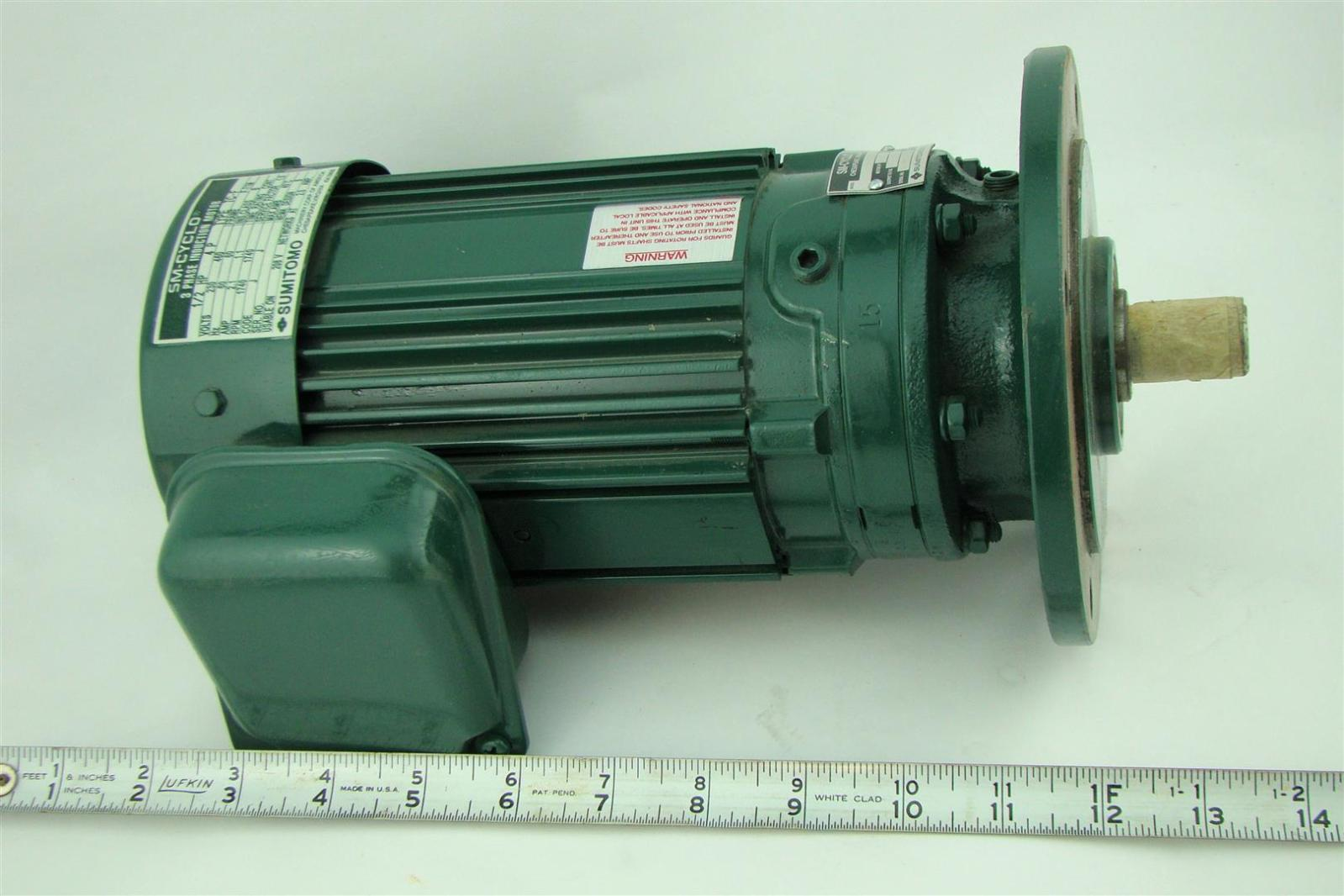 Sumitomo Sm Cyclo 3ph Induction Motor 1 2hp 230 460v 2 1a 1740rpm Cnvm054085ya1 Ebay