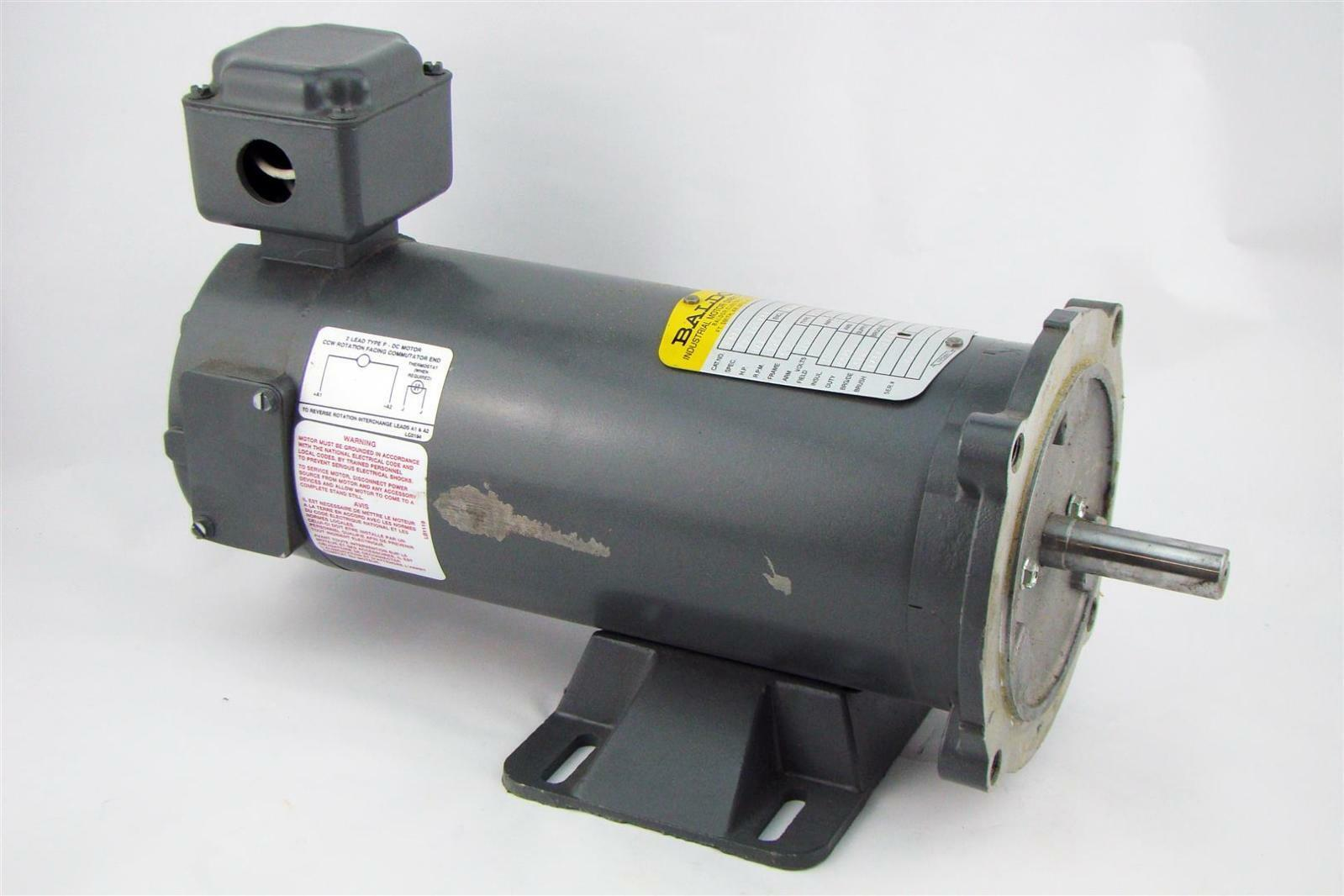 Baldor dc industrial motor 1 2hp 1750rpm 180v cdp3326 for Used industrial electric motors