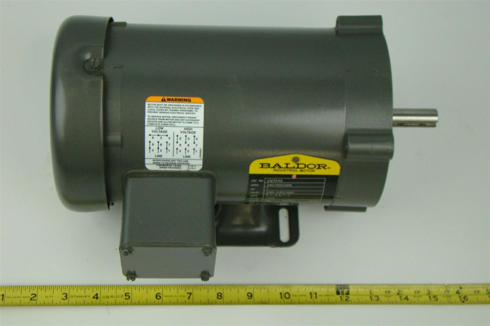 Baldor industrial motor 1hp 230 460v 3 4 1 7a 1725rpm 3ph Baldor industrial motor pump