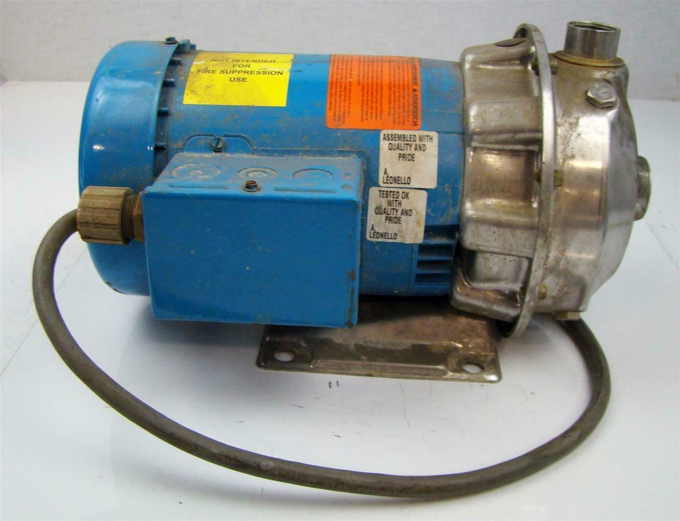 Goulds Centrifugal Pump 1x1 1 4 6 With 3 4 Emerson Elect