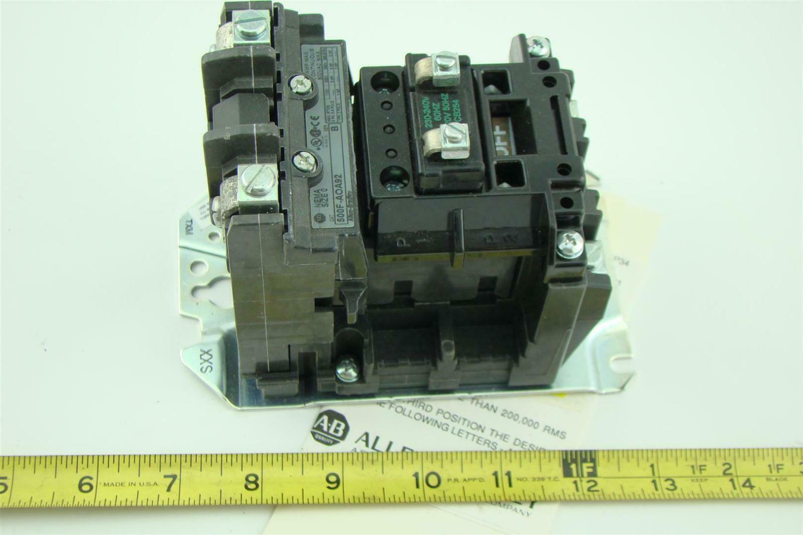 Allen Bradley Ac Motor Starter Contractor 500f Aoa92 Ser