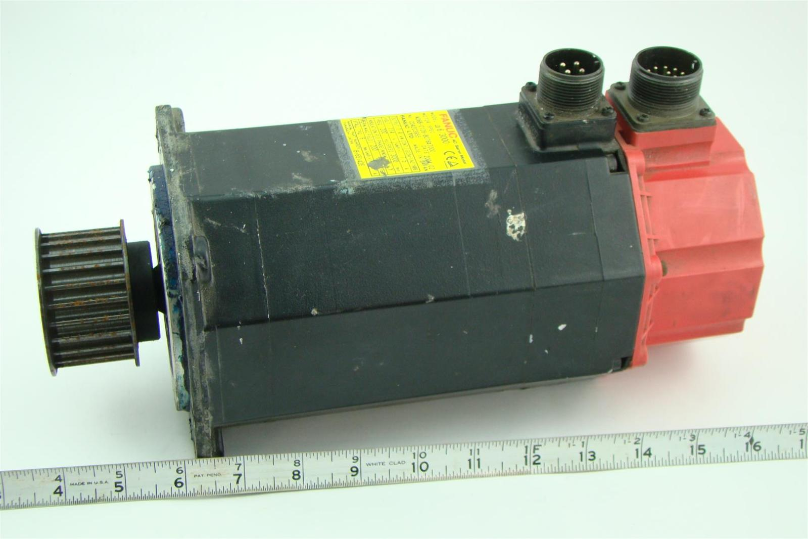 Fanuc Ac Servo Motor Model 6 3000 A06b 0128 B076 7000 7 5a 200hz 114v 1 4kw Joseph