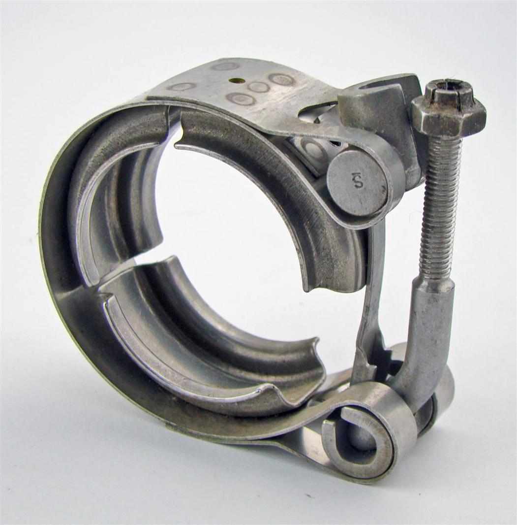 """ClampCo 1-1/4"""" V-Band Clamp SS Aerospace Exhaust w/ quick ..."""