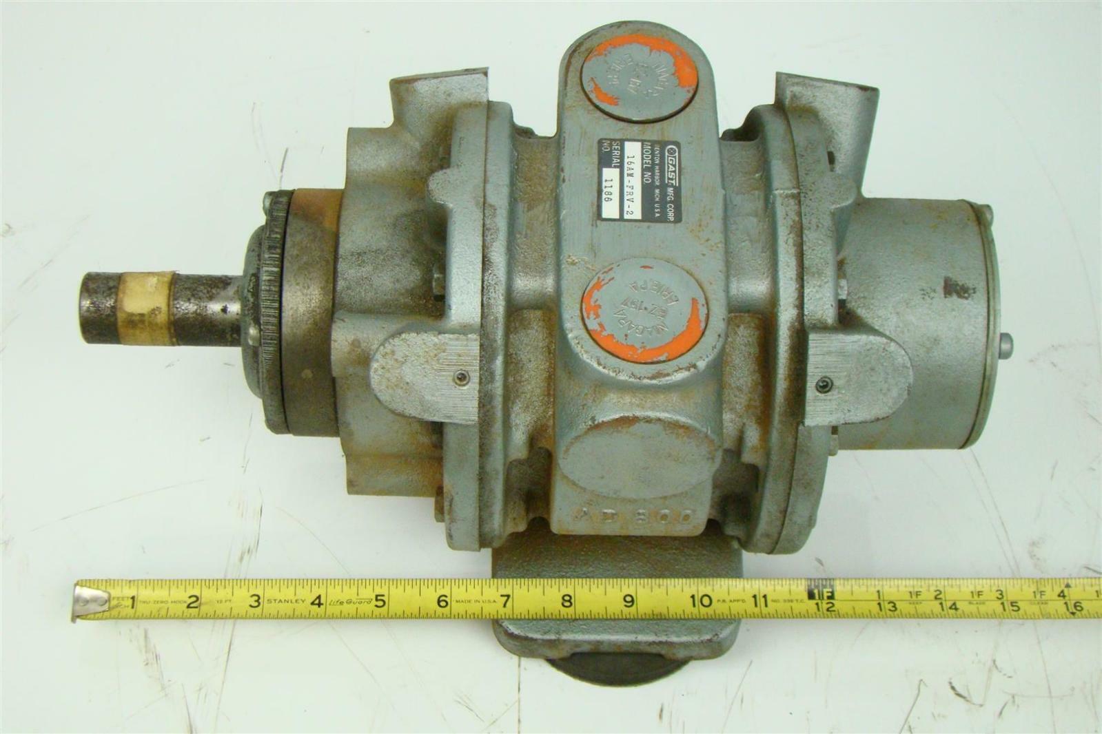 Gast Air Motor 9 5 Hp 2 000 Rpm 275 Cfm 1186 16am Frv 2