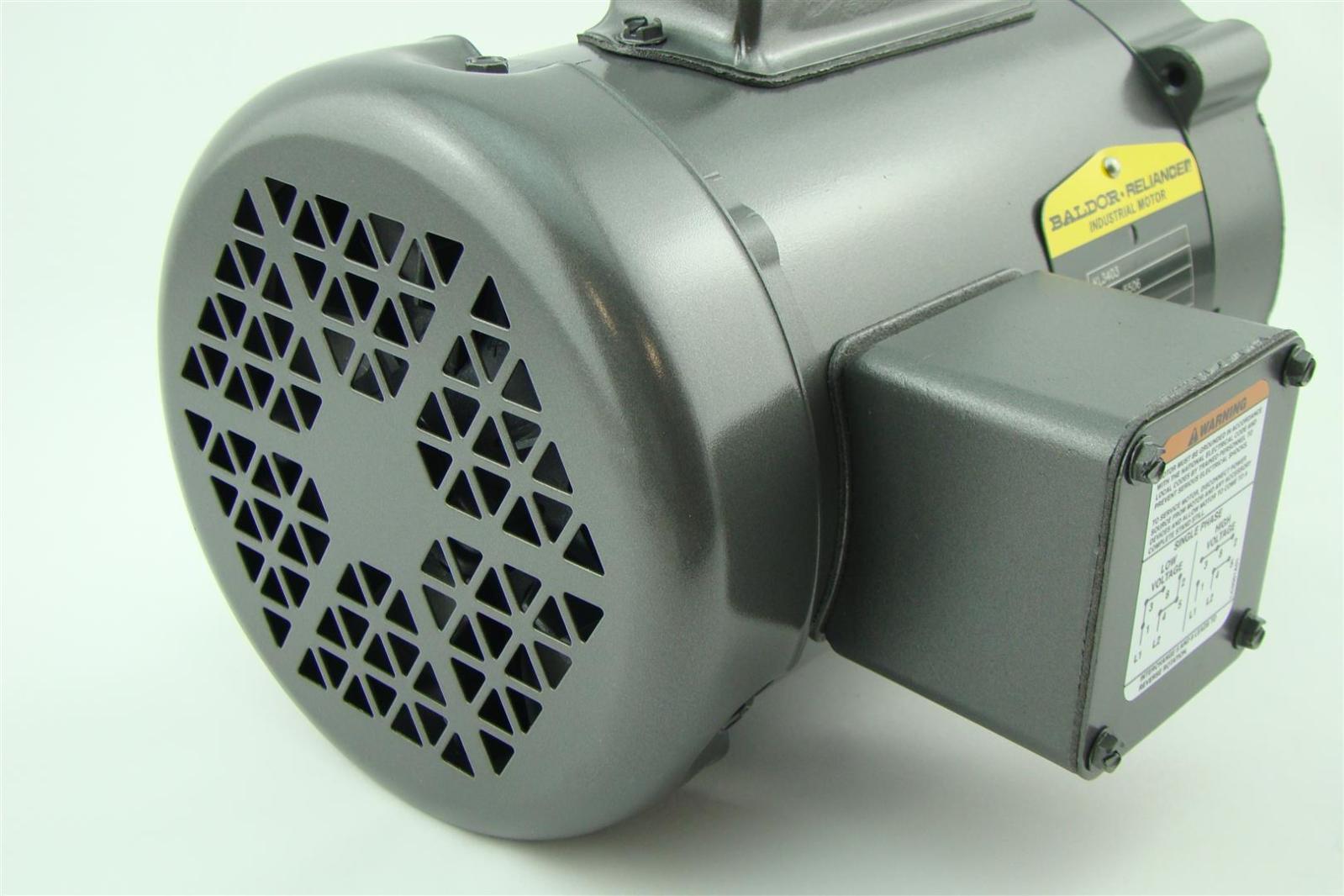 Baldor reliancer industrial motor 25hp 115 230v single for Baldor 2 hp single phase motor