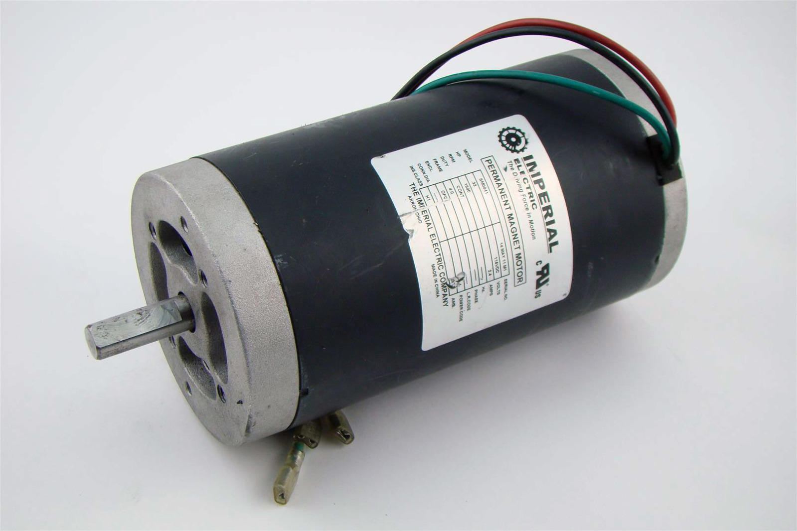 Imperial Electric Permanent Magnet Dc Motor 33hp 3 4amps