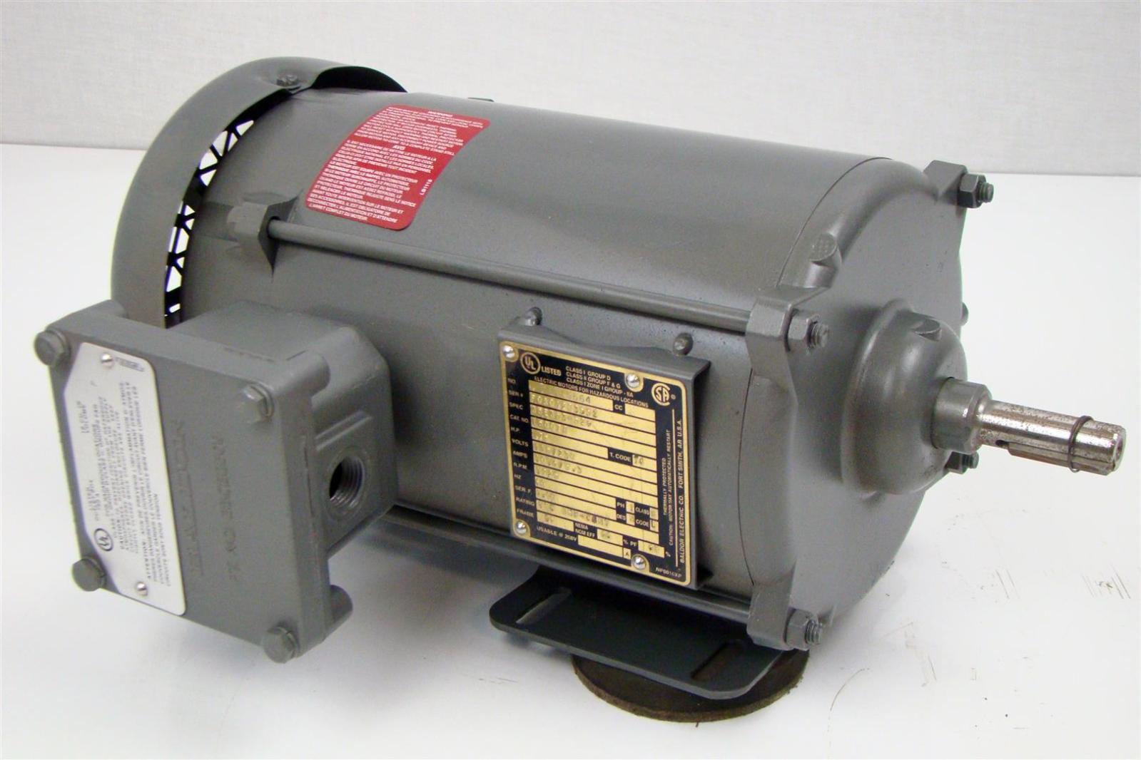Baldor Electric Motor 115 230v Hazardous Location