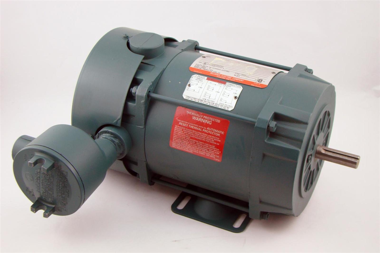 Reliance Ac Motor 1ph 3 4hp 1725rpm 115 230v 11 5 5a