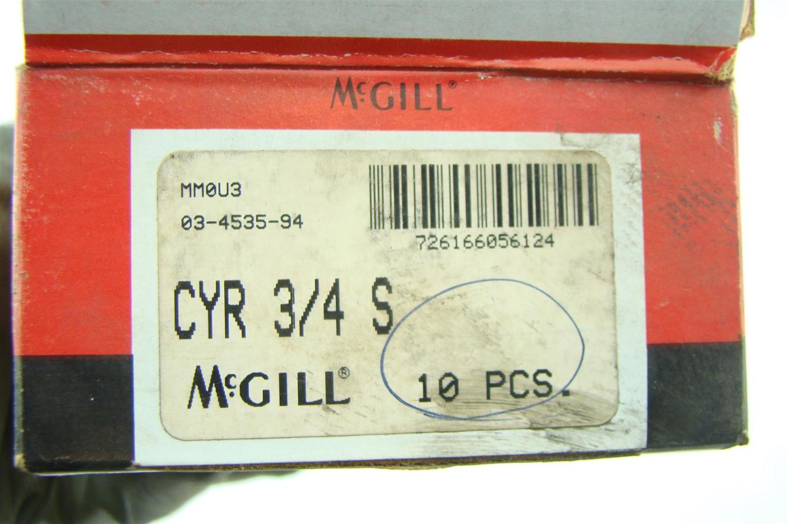 (10) McGill Cam Followers CYR 3/4 S