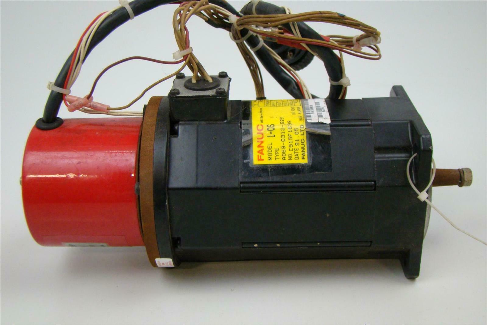 Fanuc Ac Servo Motor 3ph 8 Poles 2000rpm C915f1639 A06b 0312 B251 1 0s Joseph Fazzio Incorporated