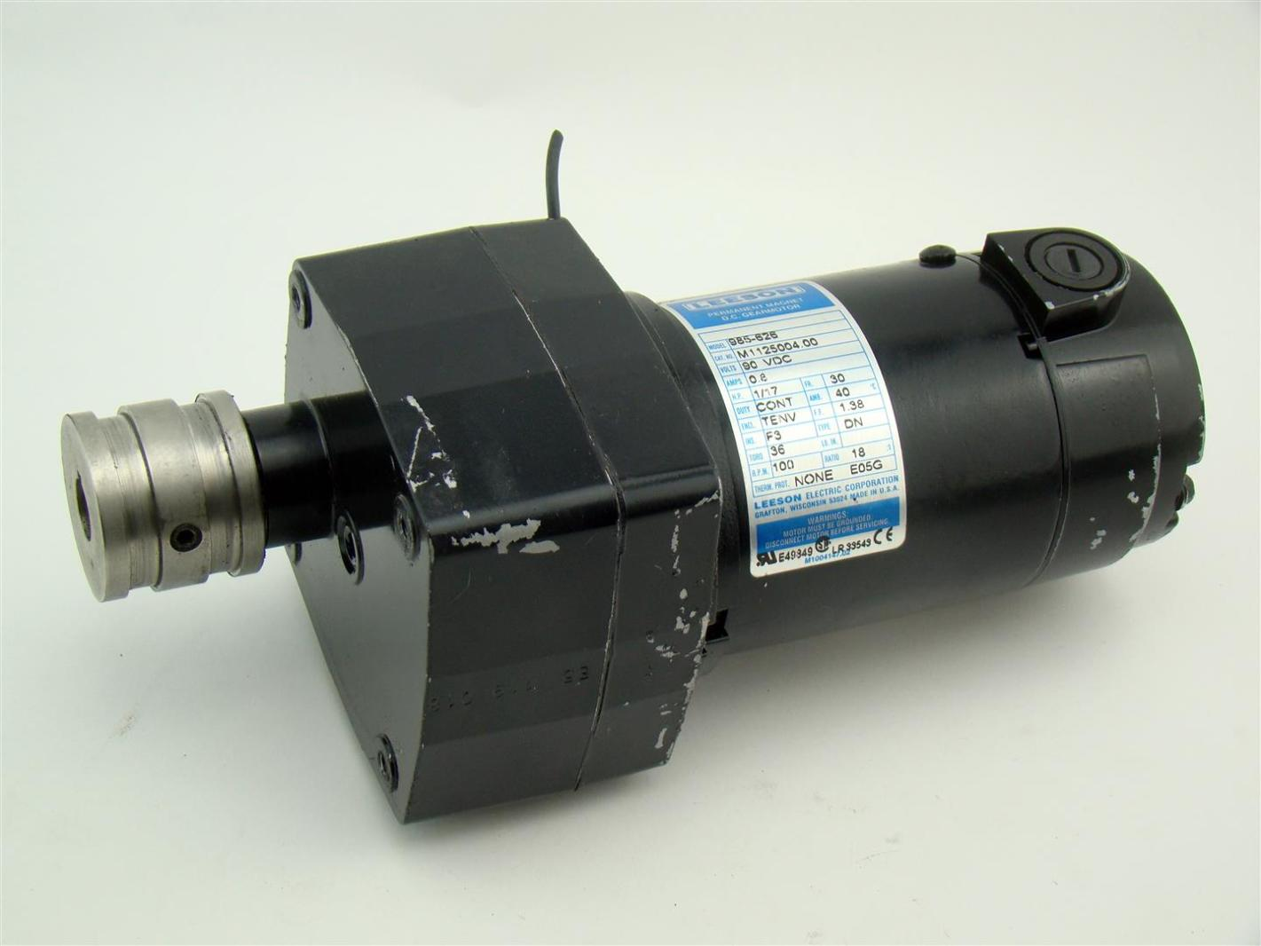 Leeson Dc Gearmotor 90vdc 1 17hp 100rpm