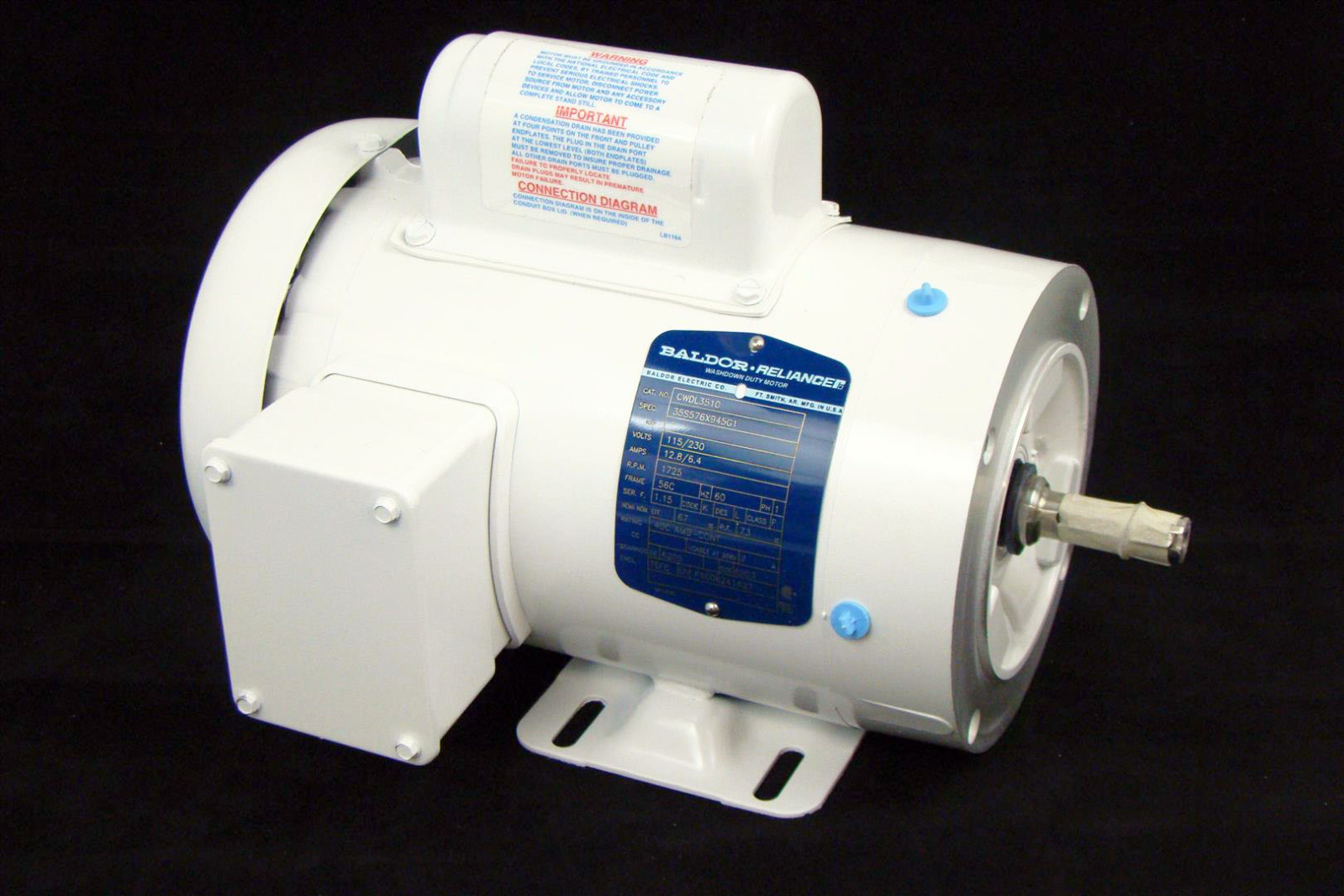 Baldor 1hp Electric Motor 1725rpm 56c 115 230 Single Phase