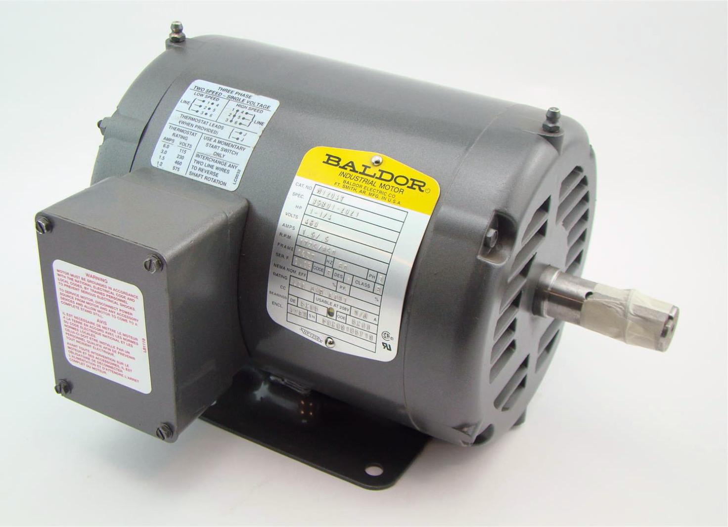 Baldor 1 1 4hp Electric Motor 1725rpm 460v M1204t Joseph