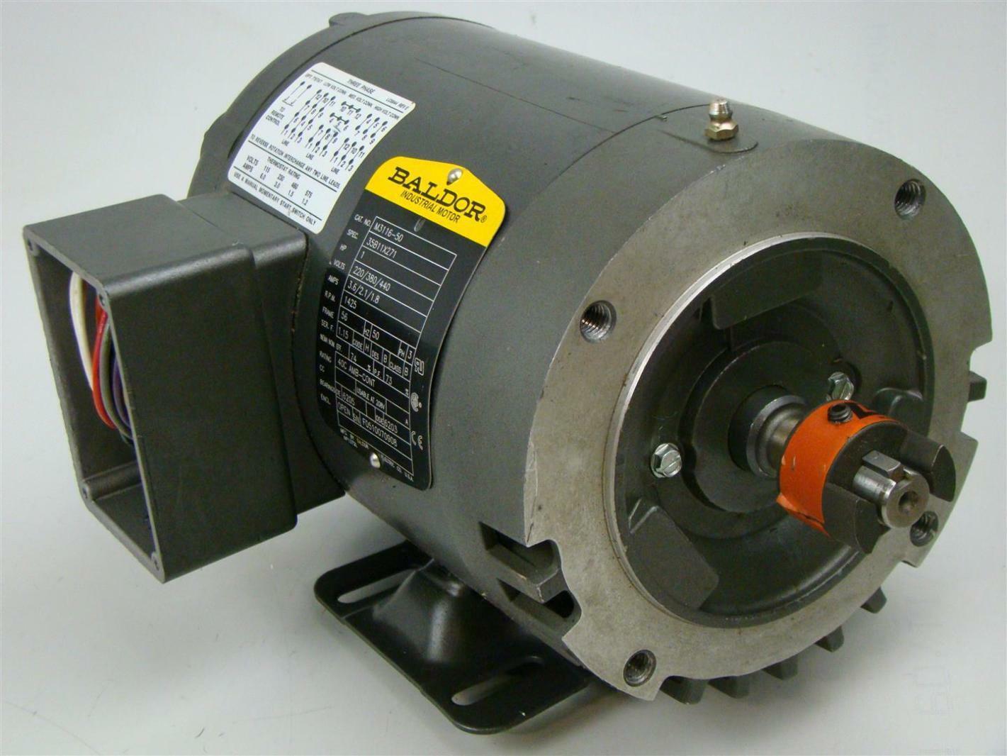 Baldor 1hp industrial motor 220 380 440v 1425rpm m3116 50 Baldor industrial motor pump